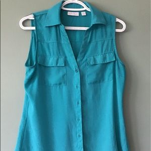 New York and company small sleeveless button down